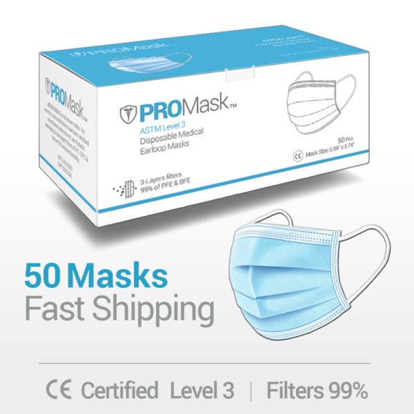 50 PCS Face Mask Medical Surgical Dental Disposable 3 Ply Earloop Mouth Cover $10.95