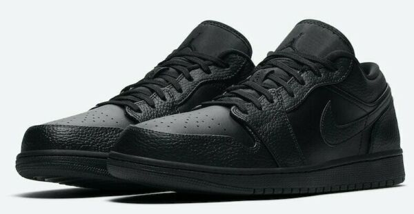 Jordan 1 Low Retro Shadow Mens Shoes Sneakers New with Box 553558 039 Black Grey