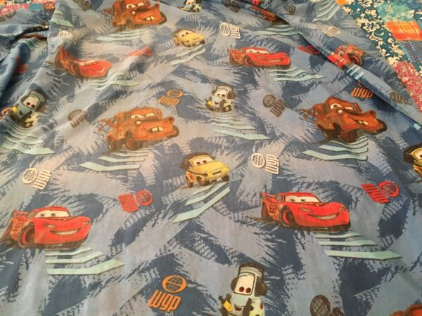 Cars 2  Disney Pixar Twin Fitted Sheet Franco Cotton Blend Lightning McQueen
