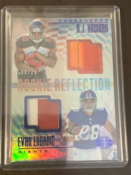 2017 Illusions Rookie Reflection Evan EngramO.J. Howard DUAL PATCH 25!