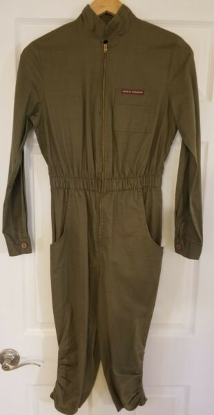 Jean St. Germain Womens Vintage Boiler Suit 5 6 One Piece Coverall Utility Crop $39.94