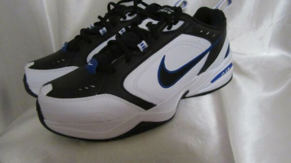 MEN`S NIKE AIR MONARCH IV (4E) ATHLETIC SNEAKERS SIZE10.5 WIDE WIDTH (4E)NEW WHI