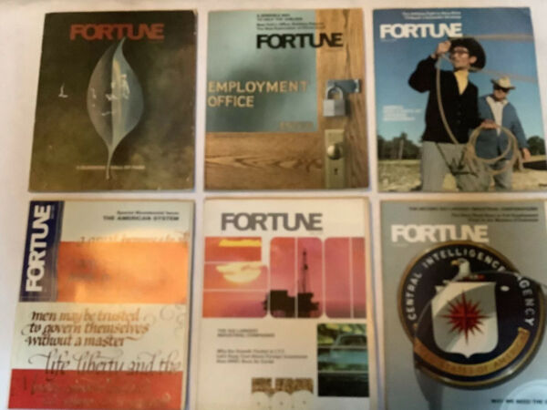 1975 Jan To June  FORTUNE MAGAZINES - GREAT COVERS & ADS