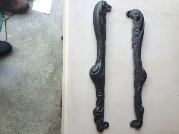 ANTIQUE PARLOR CAST IRON FLORENCE HOTBLAST NO 155 WOOD STOVE PARTS SIDE WINGS $165.00
