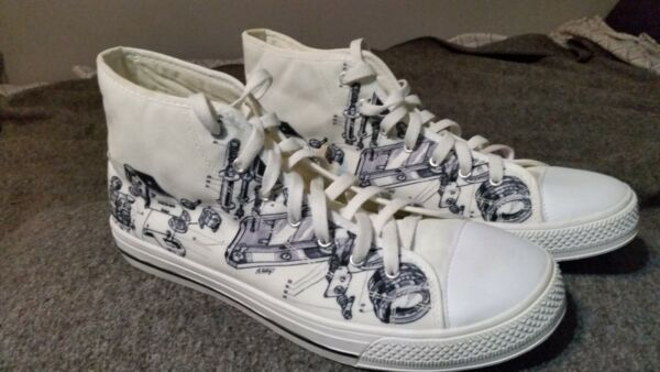 Vintage Nikon camera design high top sneakers - Mens Size 12