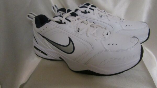 MEN`S NIKE AIR MONARCH IV ATHLETIC SNEAKERS SIZE 11 MEDIUM  NEW WHI