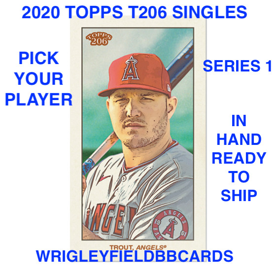 2020 Topps T206 Online Exclusive Series 1 (1-50) BASE PICK PLAYERS TROUT LUX