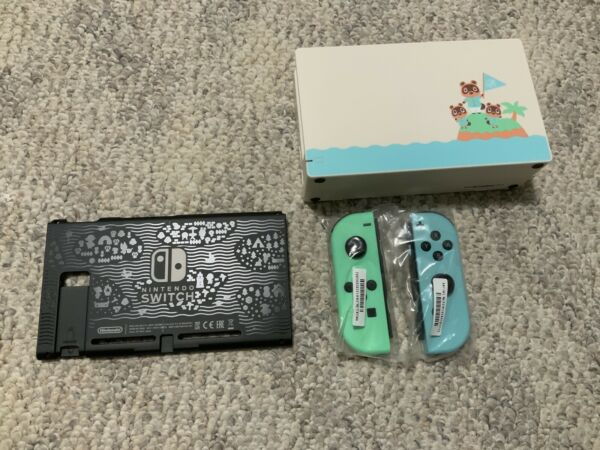 Nintendo Switch Animal Crossing Special Edition Dock Joycon Back Cover