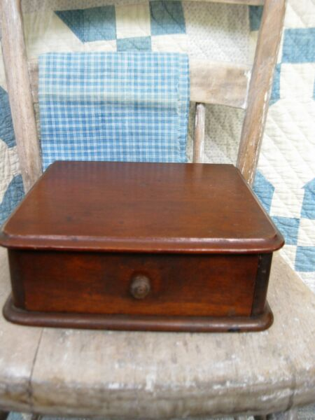 Small Antique Wood Watchmaker#x27;s Watch Glass Cabinet