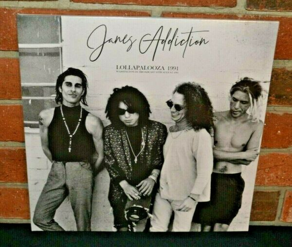 JANES ADDICTION Lollapalooza 1991 Ltd Import 2LP CLEAR COLOR VINYL Gatefold