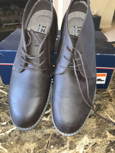 Men#x27;s dress Casual Lace Up Shoes IZOD BROWN Select Size