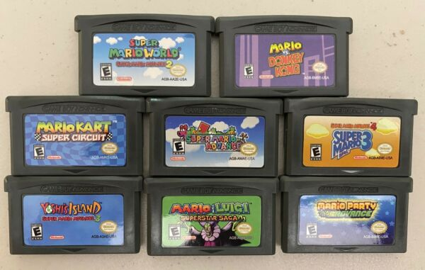 Mario Games for Nintendo Game Boy Advance Variety Pack USA SELLER