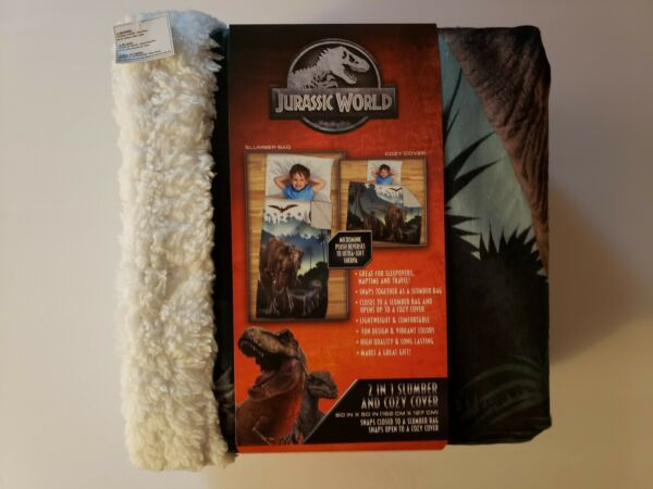 Jurassic World Kids 2 in 1 Slumber Bag and Cozy Cover 60