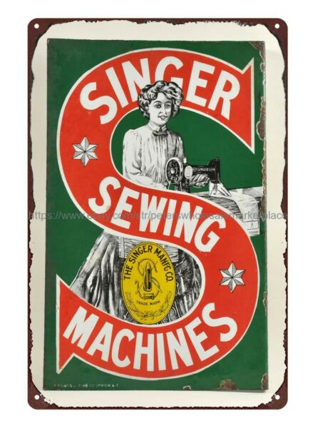 outdoor metal advertising wall art Singer Sewing Machine metal tin sign