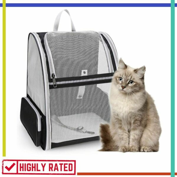 PET BACKPACK Cat Dog Carrier Travel Bag for Hiking Camping Outdoor By LOLLIMEOW $35.88