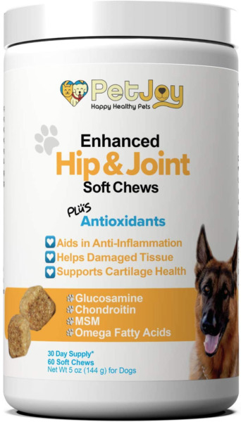 PetJoy Complete Hip and Joint Care Health Daily Soft Chews Key Ingredients Gluco $46.57