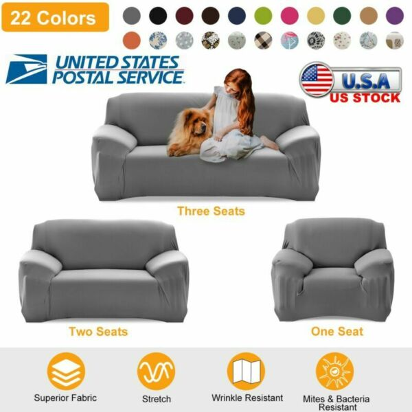 Printed Slipcover Sofa Covers Spandex Stretch Couch Cover Furniture Protector $20.09