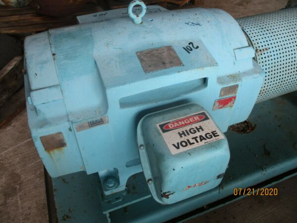 US Electric Motor 125HP 1780RPM 405T 460V Good Used $2950.00