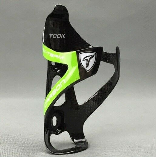 TOOK Carbon 3K Mountain MTB Road Bike Bicycle Water Bottle Holder Cage Green