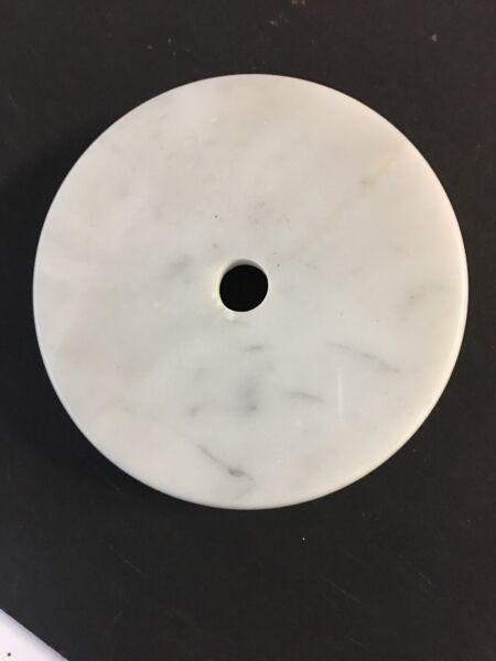 Vintage 4 inch Round Marble Lamp Base for Restoration Made in Italy : NOS