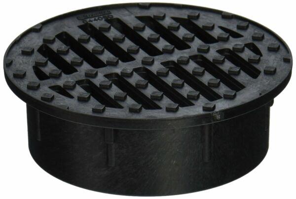 Nds Round Grate Corrugated 4 quot; Black Pvc