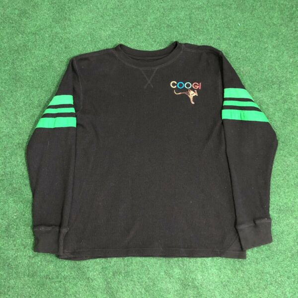 VINTAGE COOGI BLACK LONG SLEEVE THERMAL Size Small $20.00