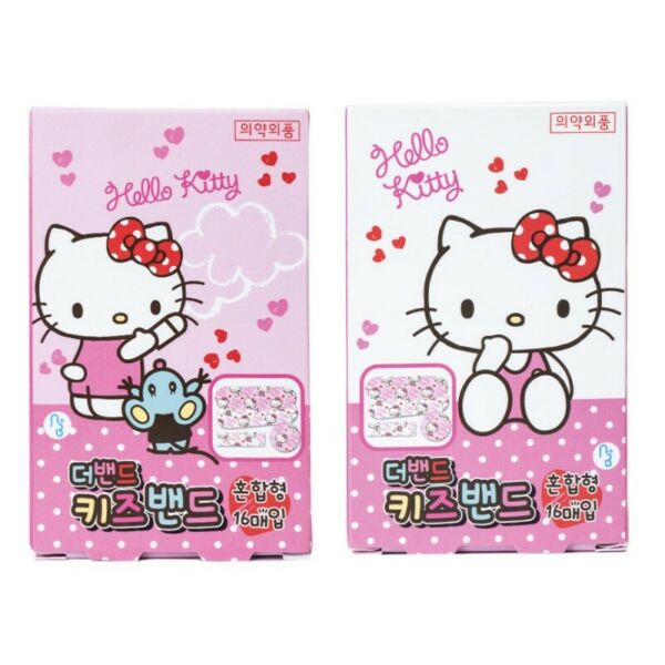 Sanrio Hello Kitty Kids First Aid Cute Band Aids Bandages : 2 Boxes Set 32pcs