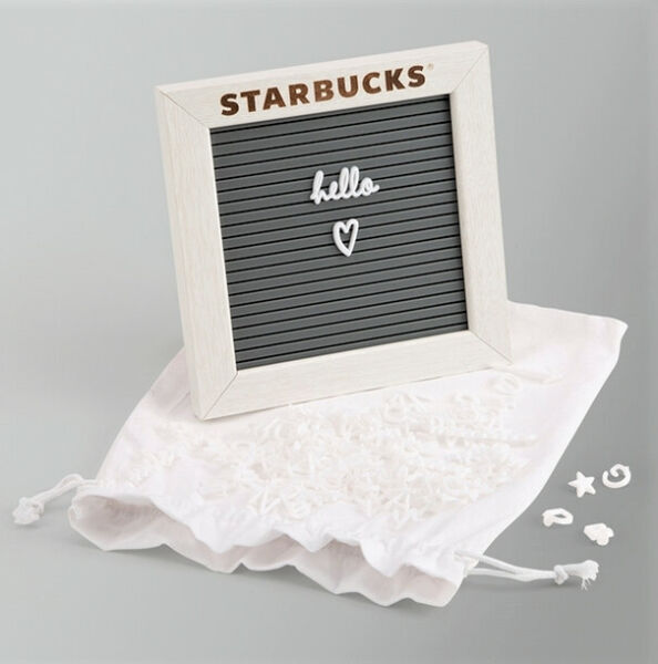 Starbucks Coffee Partner Exclusive 6quot; x 6quot; Letter Board NEW