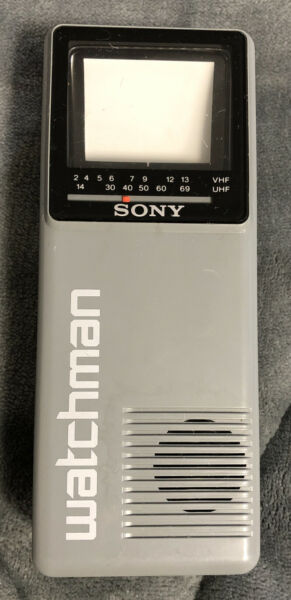 Sony Watchman TV Model #FD-10A Handheld Portable VHF  UHF Television