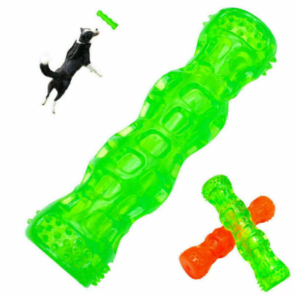 Dog Chew Toys Indestructible Squeaky Tug Dog Toys Floating Tough Rubber for Pet $7.80