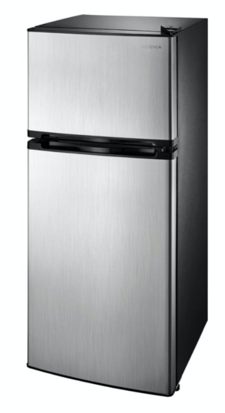 4.3 Cu Ft Mini Fridge Freezer 2 Door Stainless Steal Small Compact Refrigerator