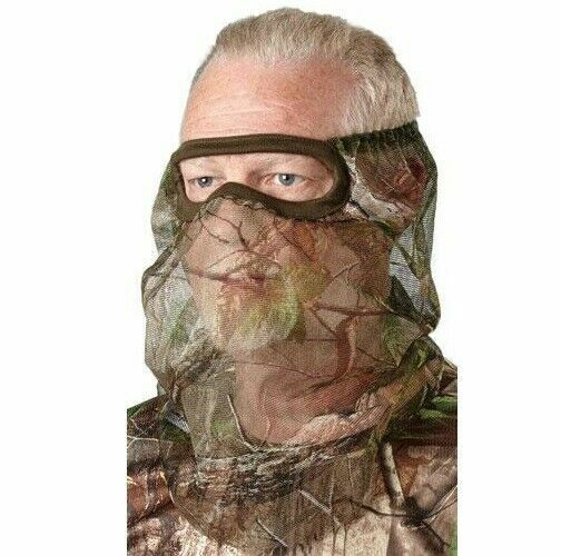 Lightweight Camouflage Camo Face Mask Hunting Mesh 3 4 Fit Bug Screen