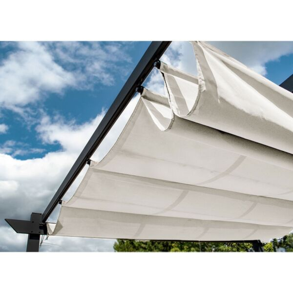 ALEKO Fabric Replacement for Pergola Canopy 13 x 10 Ft White Color