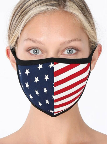 3 x American Flag Cotton Face Mask Facial Cover Reusable Washable Breathable