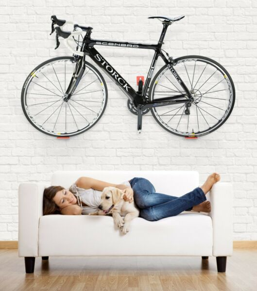 CYCLOC Super Hero Bicycle Wall Mount Cycle Storage Rack for Bicycle Color: WHITE $49.99
