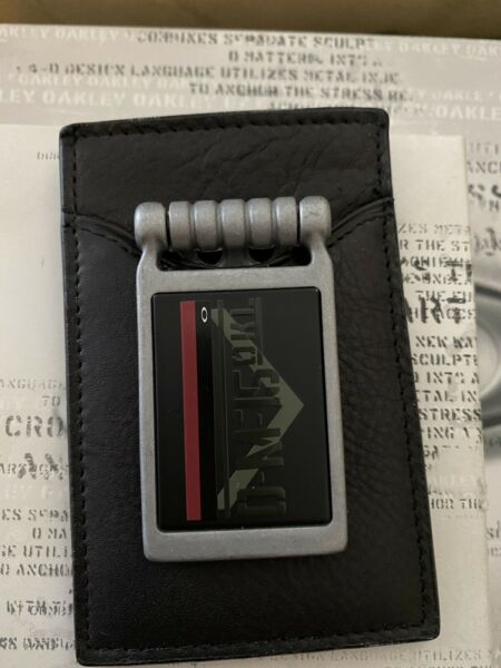Rare Oakley Money Clip Leather Wallet not X Metal. Skull Display Coin. $250.00