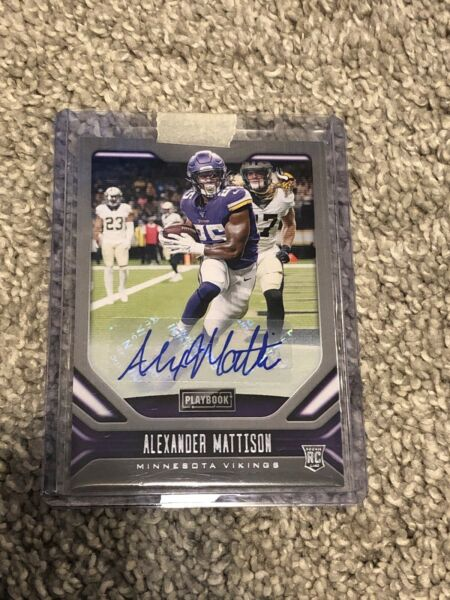 2019 Playbook Alexander Mattison Auto #132 Vikings Rookie Rare Investment