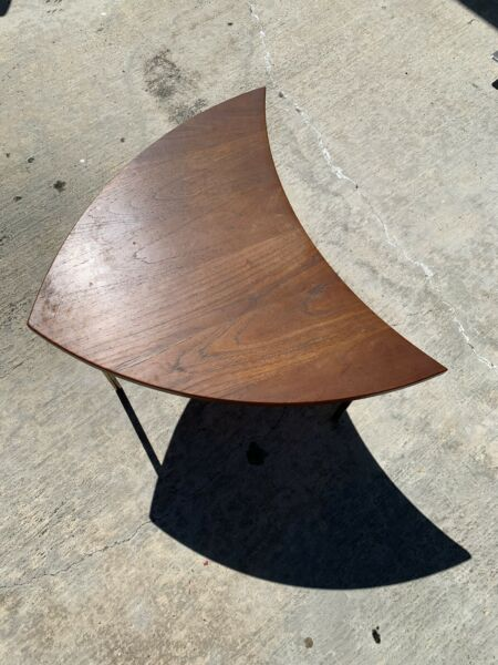 John Stuart Pinwheel Wood Side Table Made In Denmark Model 523 Peter Hvidt