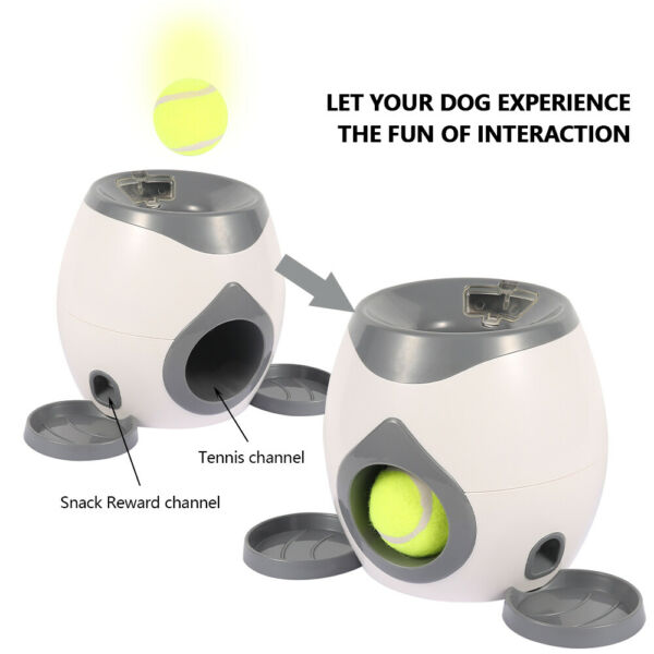 Automatic Interactive Ball Tennis Launcher Dog Pet Toys Training Feeding Safety $35.99