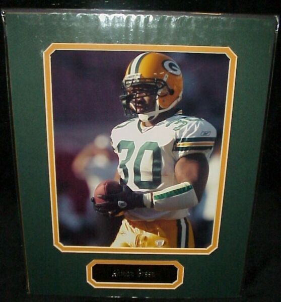 Ahman Green Packers Matted Photo amp; Name Plate 11x14 Ready for Framing A 50