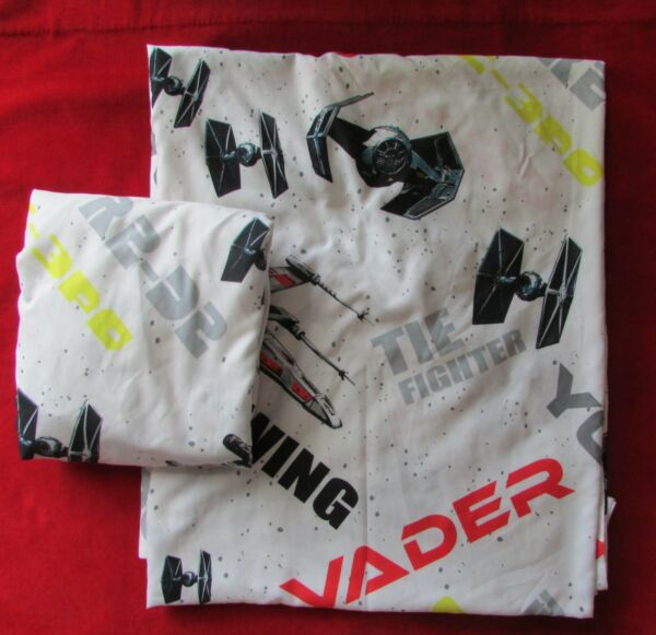 Jay Franco & Son Star Wars Trilogy Full Double Flat  Fitted Sheet Set EUC