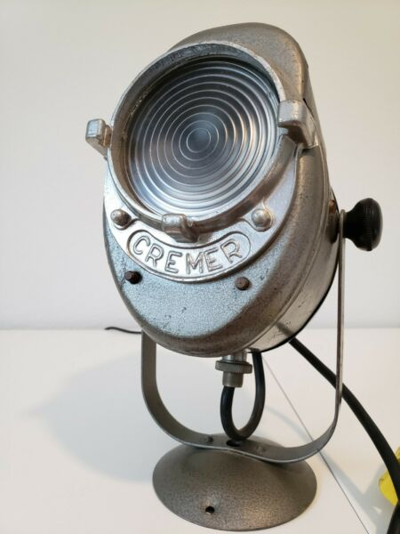 Vintage 1940s A.E. Cremer Theatre Spot Light Movie Stage Light French Vintage