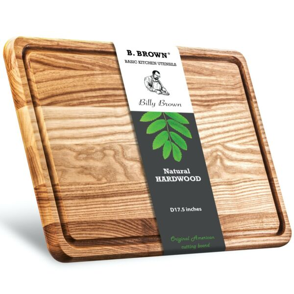 17.7quot; Large Wood Cutting Board from hardwood. High quality. Great for serving.