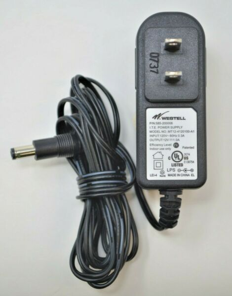 WESTELL POWER ADAPTER MT12 4120100 A1 585 200070 120V 60Hz 0.3A 12V 1A NEW #A81
