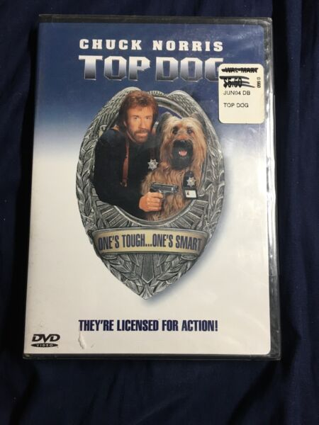TOP DOG New DVD 2001 Sensormatic Chuck Norris $2.99