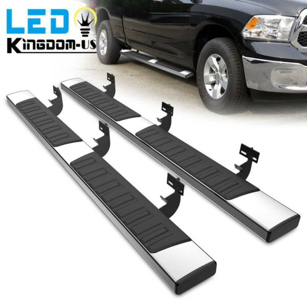 for 2009 2018 Dodge Ram 1500 Crew Cab 6quot; Side Steps Nerf Bars Running Boards SS