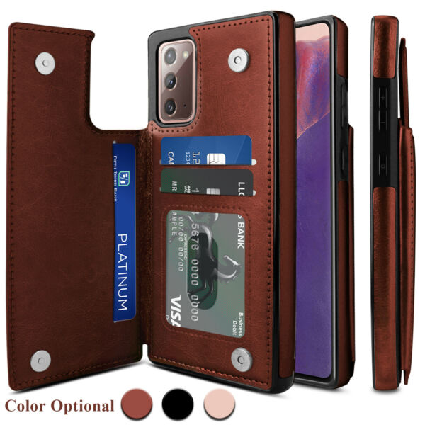 For Samsung Galaxy Note 20 Ultra S20 FE 5G Case Leather Card Wallet Stand Cover $10.95