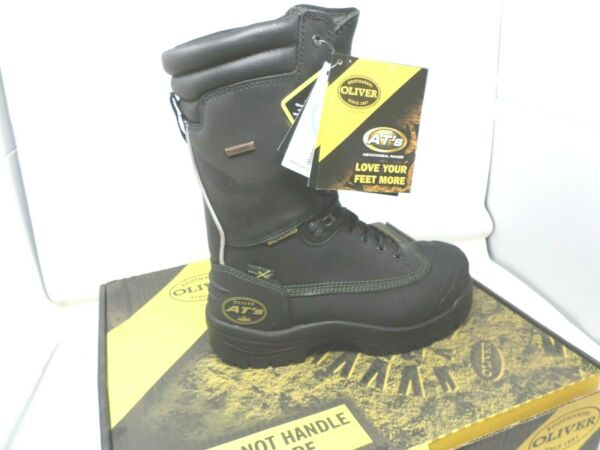 Oliver 65690 Black Leather Mining METGUARD Boots Oil Heat Water Resistant $199.99