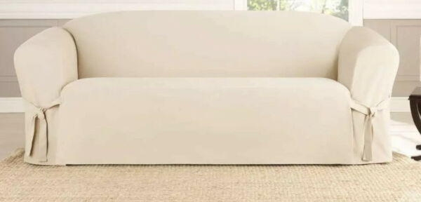 ✅ SureFit Slipcover For Sofa Sailcloth Natural ‼️See Pictures‼️ $32.99