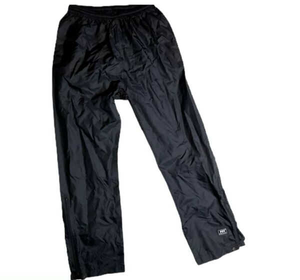 Helly Hansen Pants Small Water Resistant Packable Black Nylon Outer Shell A15 $19.99